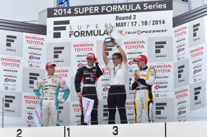 Super Formula Fuji Speedway 2014 Race 1 Podium