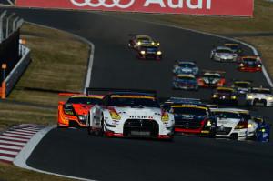 Super GT JAF Grand Prix Fuji Sprint Cup 2013 GT300 Start