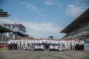 Porsche Team Photo