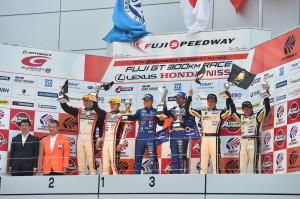 Super GT Fuji 2014 GT300 Podium