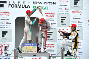 Super Formula Sugo 2014 Podium 2