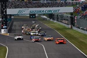 Super GT Suzuka 2014 GT300 Start