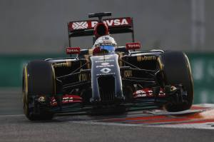 Yas Marina Circuit, Abu Dhabi, United Arab Emirates.Sunday 23 November 2014.Romain Grosjean, Lotus E22 Renault.Photo: Sam Bloxham/Lotus F1 Team.ref: Digital Image _SBL6928
