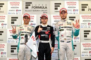 Super Formula Suzuka 2014 Race 1 Podium