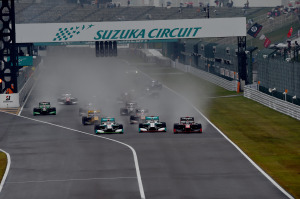 Super Formula Suzuka 2014 Race 1 Start