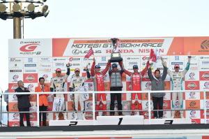 Super GT Motegi 2014 GT500 Championship Podium