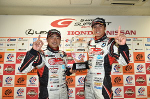 Super GT Motegi 2014 Goodsmile Racing & TeamUkyo GT300 Champions Tatsuya Kataoka Nobuteru Taniguchi