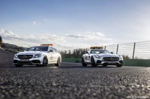 Mercedes-AMG C 63 S T-Modell als Official Medical Car und Merced