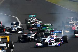 Super Formula Okayama 2015 Start 3