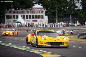 Corvette C7.R Racing At Le Mans