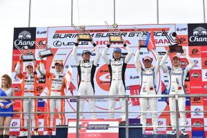 Super GT Thailand 2015 GT500 Podium