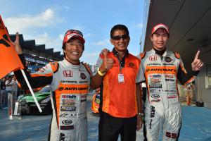 Super GT Fuji 2015 Shinichi Takagi Aguri Suzuki Takashi Kobayashi