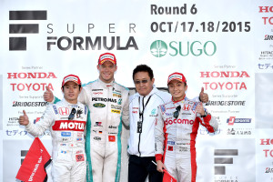 Super Formula Sugo 2015 Podium