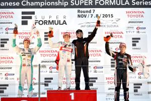 Super Formula Suzuka 2015 Race 2 Podium