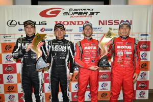 Super GT Okayama 2016 GT500 GT300 Winners